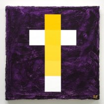 2018 Obstacle and Void (Cross): Yellow with Violet