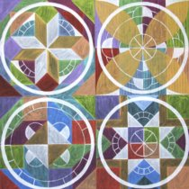 2013 Four Mandalas For Stability